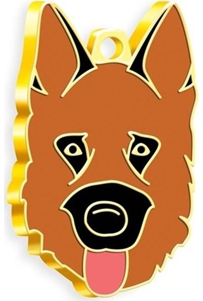 Pet Tag 24 Ayar Altın Kaplama Alman Kurdu Köpek Künyesi