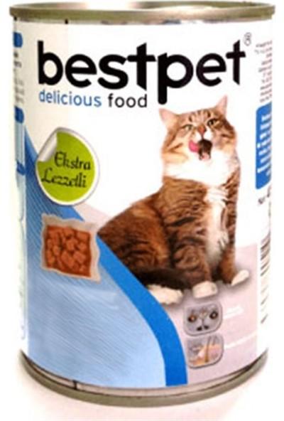 Best Pet Jöle İçinde Parça Etli Somonlu Konserve Yetişkin Kedi Maması 415 gr