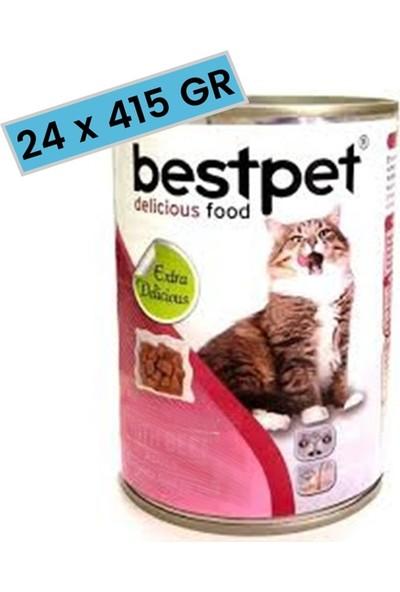 Best Pet Jöle İçinde Parça Etli Biftekli Konserve Yetişkin Kedi Maması 415 gr. (24 Adet)