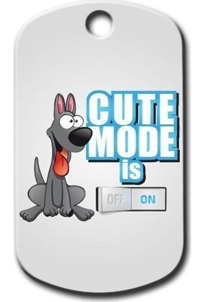 Pet Tag Cute Mode Is On ( Mavi ) Köpek Künyesi
