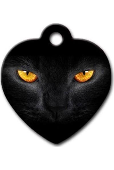 Pet Tag Kedi Gözü Kalp Kedi Köpek Künyesi