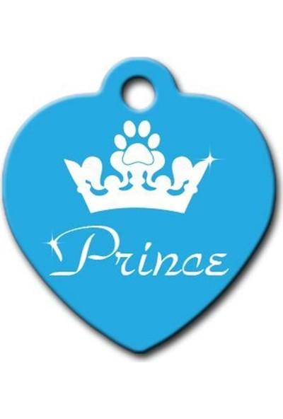 Pet Tag Prince Kalp Kedi Köpek Künyesi