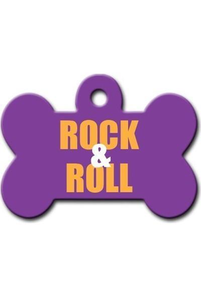 Pet Tag Rock - Roll Kemik Köpek Künyesi