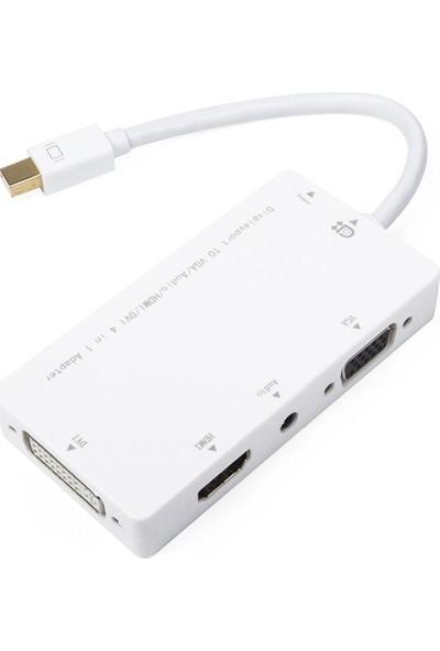 M-Tech MTDMC039 Mini DisplayPort To HDMI, DVI, VGA - Audio Dönüştürücü