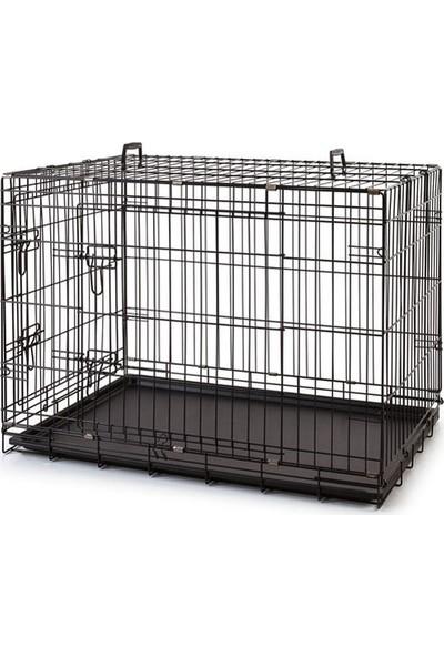 EuroGold Metal Köpek Kafesi Siyah 91x61x66cm