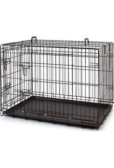 EuroGold Metal Köpek Kafesi Siyah 107x70x77cm