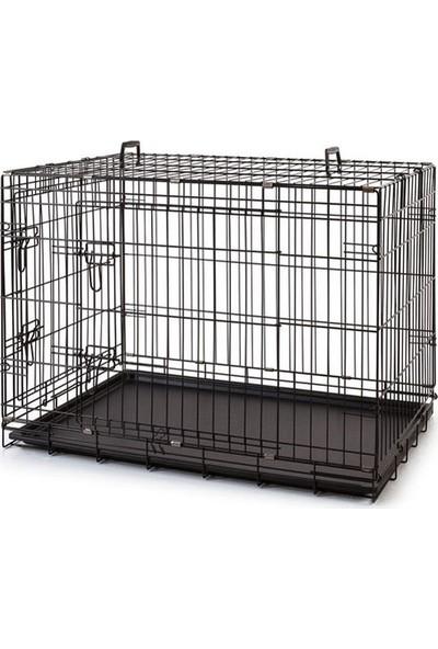 EuroGold Metal Köpek Kafesi Siyah 120x75x81cm
