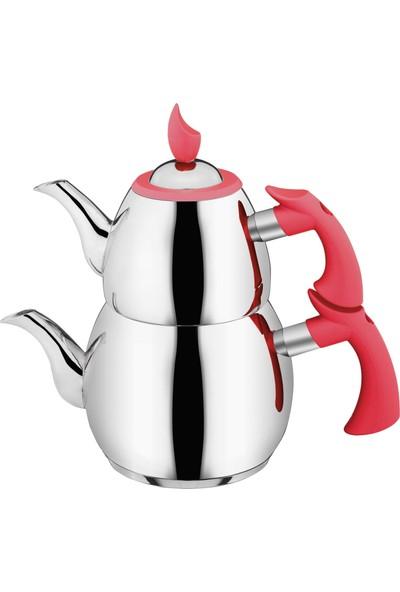 Aksu Yeni Dem Büyük Boy Çaydanlık - Kırmızı 1553