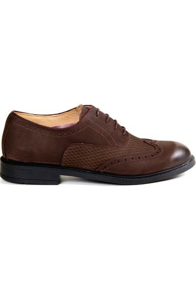 White World 1712 Kahve Klasik Ayakkabı