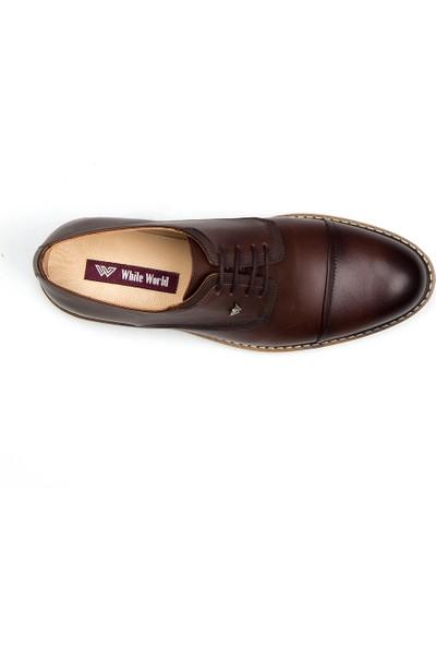 White World 1469 Kahve Klasik Ayakkabı