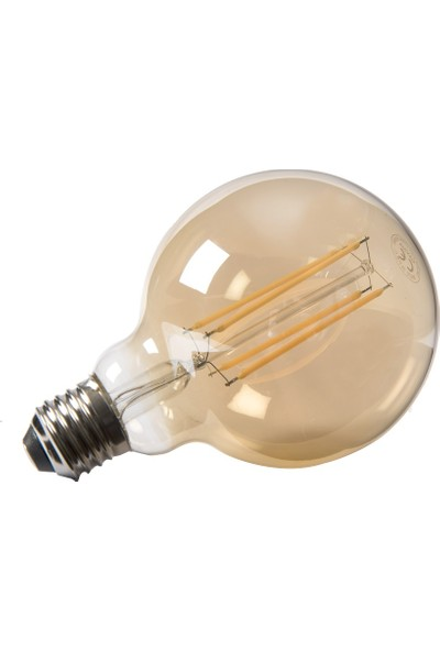 Maxima G95 Edison LED 6W Uzun Filament 2700K Amber Sarı Işık 6'lı Paket