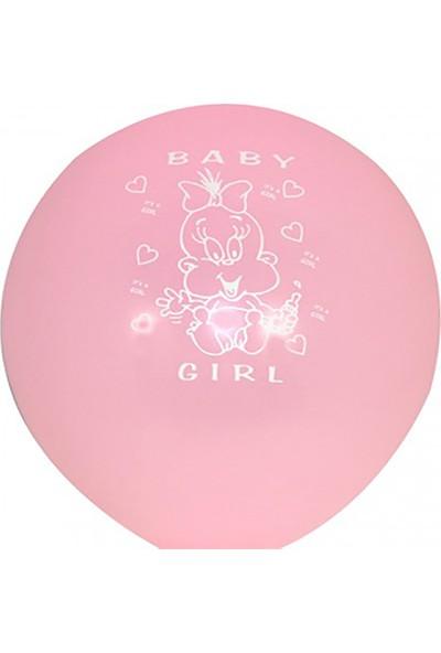 Kazanabil 20li Hoşgeldin Bebeğim Temalı Kız Bebek Parti Balonu Pembe