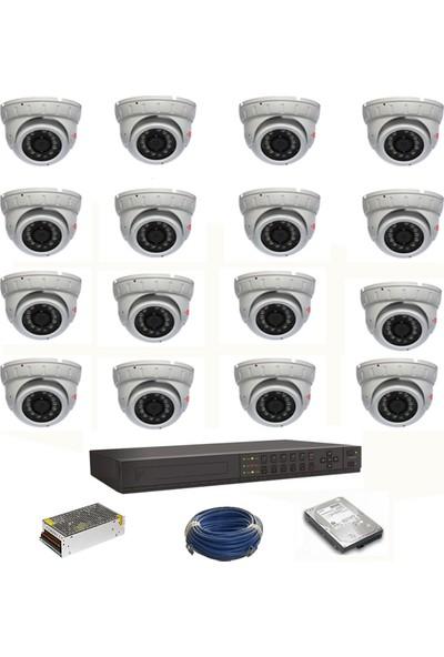 Sorax Güvenlik Kamera Seti 16 Kamera 1Mp Dome Kamera