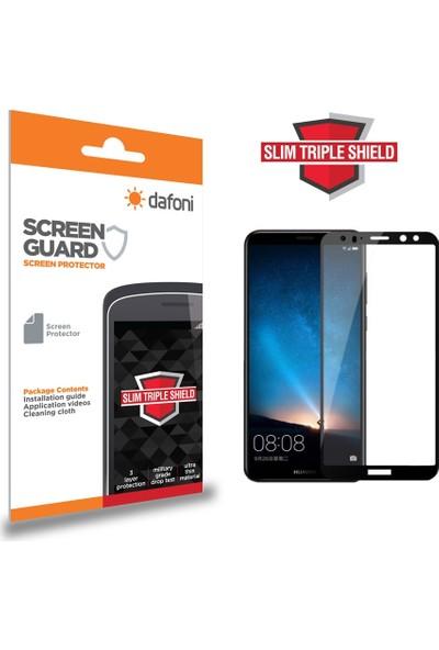 Dafoni Huawei Mate 10 Curve Slim Triple Shield Siyah Ekran Koruyucu
