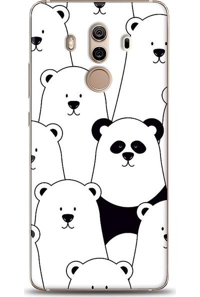 Eiroo Huawei Mate 10 Pro Lonely Panda Desenli Baskılı Tasarım Kılıf