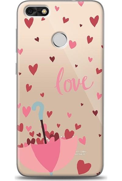 Eiroo Huawei P9 Lite Mini Love Umbrella Desenli Baskılı Tasarım Kılıf