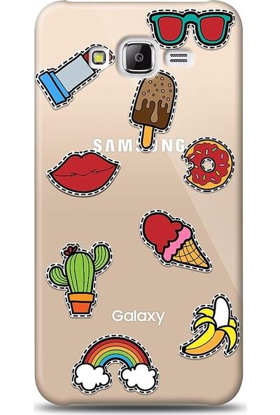Eiroo Samsung Galaxy J7 / Galaxy J7 Core Stickers Desenli Baskılı Tasarım Kılıf