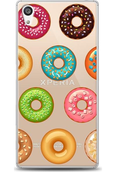 Eiroo Sony Xperia Z5 Donuts Desenli Baskılı Tasarım Kılıf