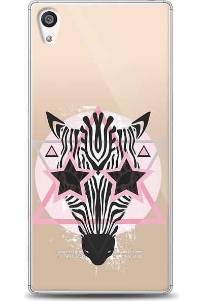 Eiroo Sony Xperia Z5 Zebra Star Desenli Baskılı Tasarım Kılıf