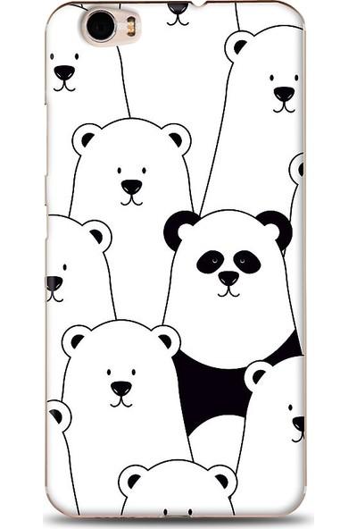 Eiroo Vestel Venus Z10 Lonely Panda Desenli Baskılı Tasarım Kılıf