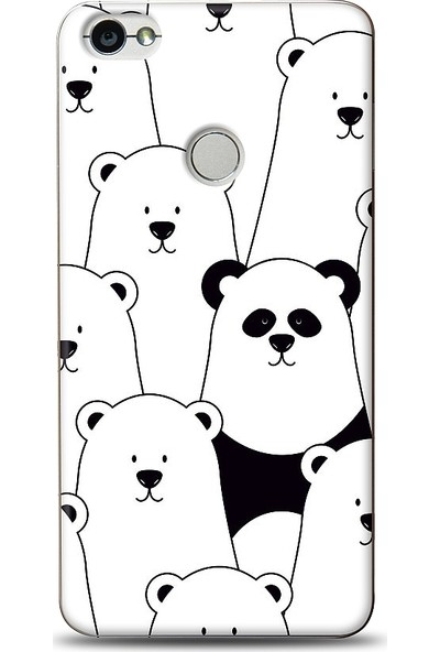Eiroo Xiaomi Redmi Note 5A / Note 5A Prime Lonely Panda Desenli Baskılı Tasarım Kılıf