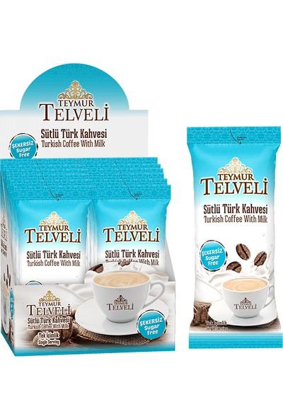 Teymur Telveli Şekersiz Sütlü Türk Kahvesi 12 Adet