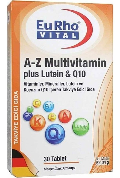 Eurho Vital A-Z Multivitamin 30 Tablet