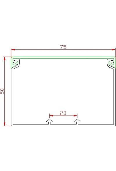 A Plus Elektrik 70x20 mm Balık Sırtı Güçlü Yapışkan Bantlı Gri 2x1m=2m Kablo Kanalı