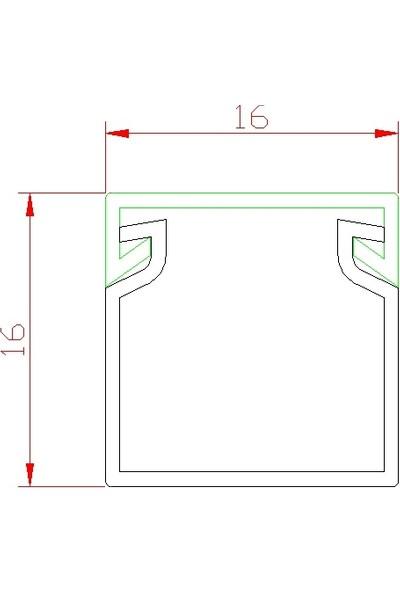 A Plus Elektrik - 16x16 Standart Kablo Kanalı - Renkli Lamine Kaplamalı - Ceviz