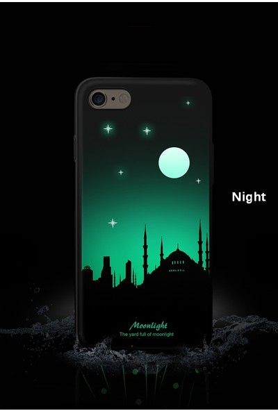 Vendas iPhone 6/6S Cami Resimli Siyah Rubber Kılıf + Ekran Koruyucu