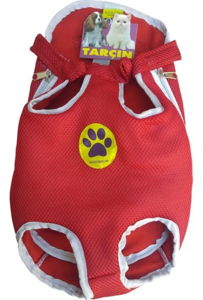 Tarçınpet Kedi&Küçükırk Köpek Anakucağı Taşıma Çantası Açık Kanguru -Kırmızı