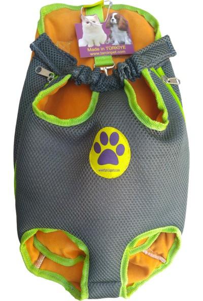 Tarçınpet Kedi&Küçükırk Köpek Anakucağı Taşıma Çantası Açık Kanguru -Füme