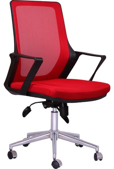 Büronet Alfa Kırmızı Fileli Personel Ve Şef Koltuğu - Büronet Ofis Mobilya