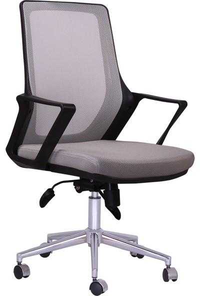 Büronet Alfa Fileli Gri Personel Ve Şef Koltuğu - Büronet