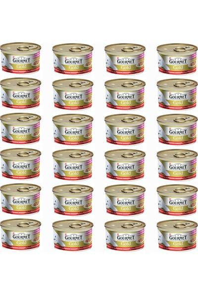 Gourmet Gold Çifte Lezzet Sıgır Eti Tavuk Konserve 85 Gr X 24 Adet