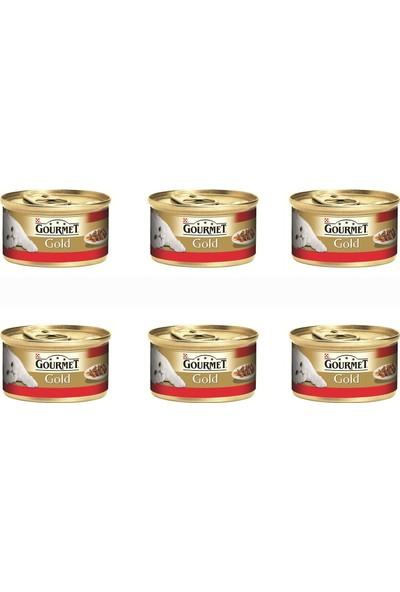 Gourmet Gold Parça Etli Sıgır Etli 85 Gr x 6 Adet