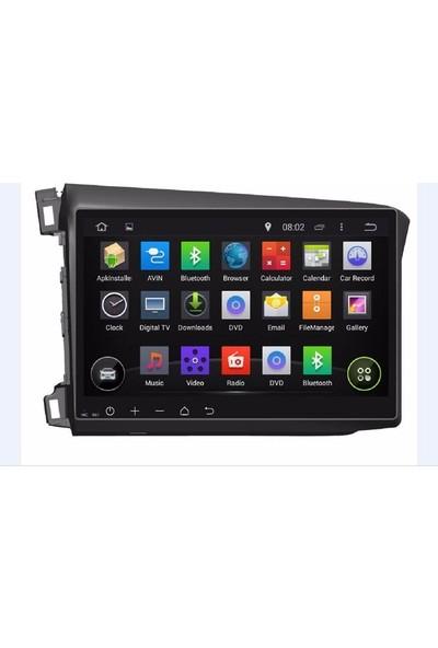 Kamasonic Honda Civic 10 inç Android Navigasyon Multimedya TV USB Oem
