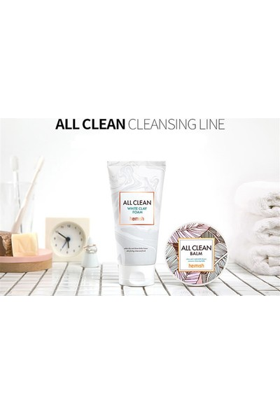 Heimish All Clean White Clay Foam - Amazon Beyaz Kili Hyalüronik Asit Destekli Temizlik Köpüğü