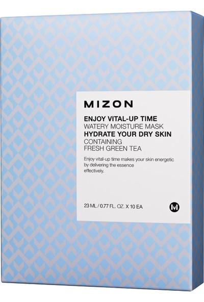 Mizon Enjoy Vital-Up Time Watery Moisture Mask - Canlandırıcı Nemlendirici Yeşil Çay Ekstreli Maske