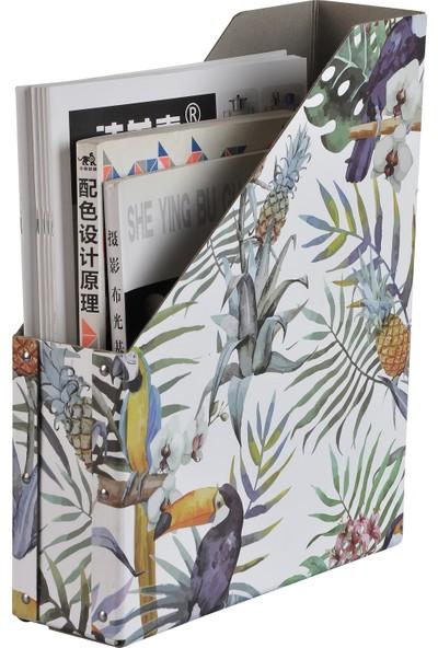 Bosphorus Tropikal Desenli Kitap,Dergi,Klasör Düzenleyici