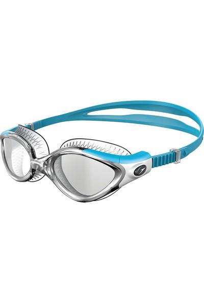 Speedo 8 11533B979 Futura Biofuse Flexiseal Kadın Yüzücü Gözlüğü Şeffaf