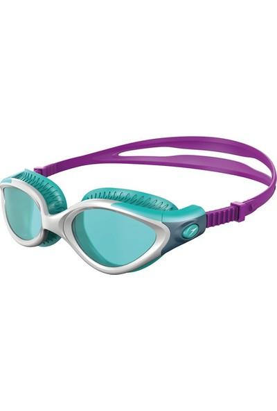 Speedo 8 11533B979 Futura Biofuse Flexiseal Kadın Yüzücü Gözlüğü Turkuaz