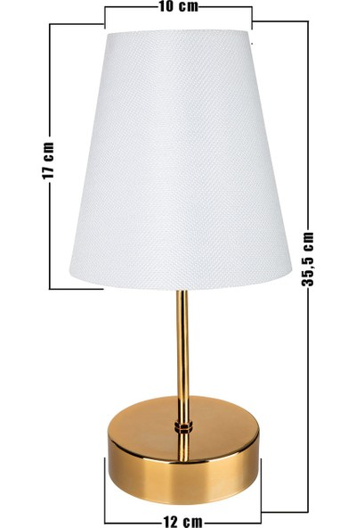 Modelight Estelya Abajur Gold Ayak / Beyaz Şapka