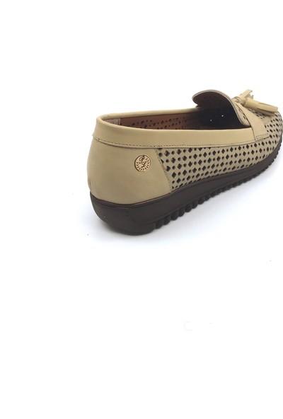 Pianoluce Deri Bej Kadın Ayakkabı Pla42-514