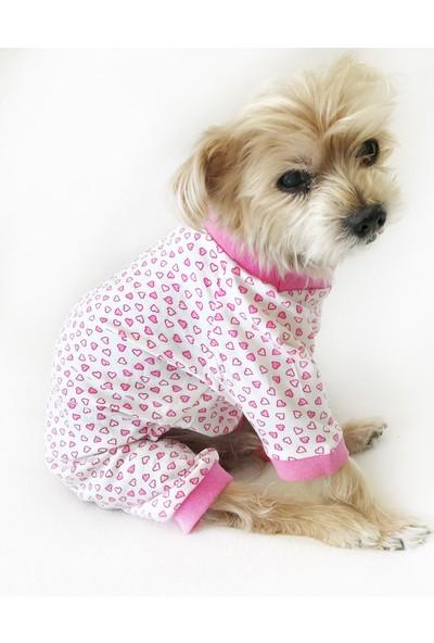 Kemique Pınk Hearts Penye Tulum By Köpek Tulumu Köpek Elbisesi