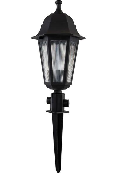 Modelight Optik Çime Saplama Altıgen Siyah