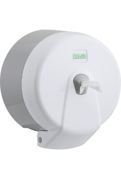 Vi̇alli̇ Mini Cimri İçten Çekmeli Tuvalet Kağıdı Dispenseri Beyaz K3