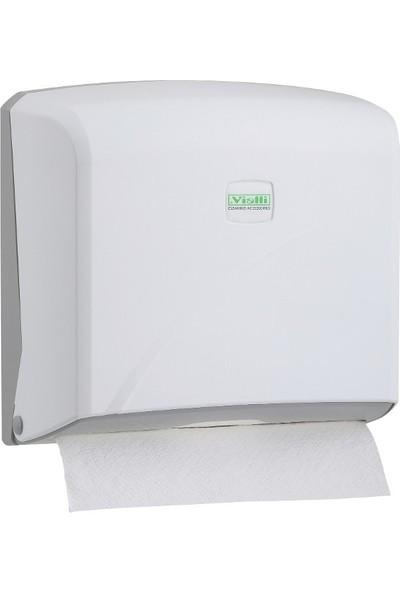 Vi̇alli̇ Z Katlı Kağıt Havlu Dispenseri Max 22 Cm 200 Ad Beyaz K2