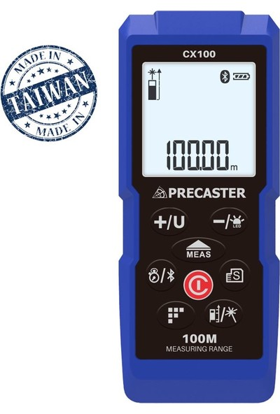 Precaster CX100 100m Profesyonel Bluetooth Lazermetre