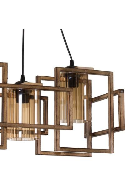 Ora Dekor Wood Selection Lisa 3'Lü Ahşap Avize